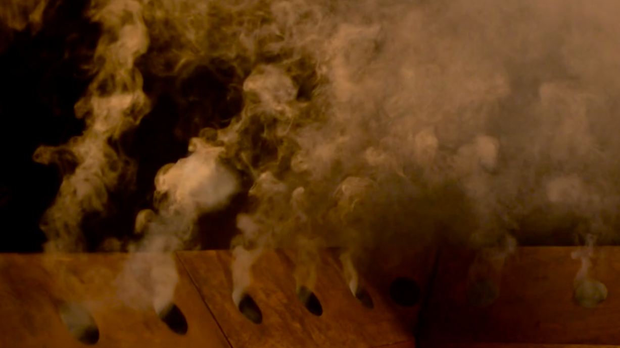 Smoke Signals by Ed Carter and Dave Cranmer, screengrab from film by Alan Fentiman